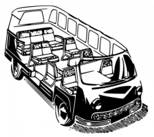Raf 977d minivan Free Vector