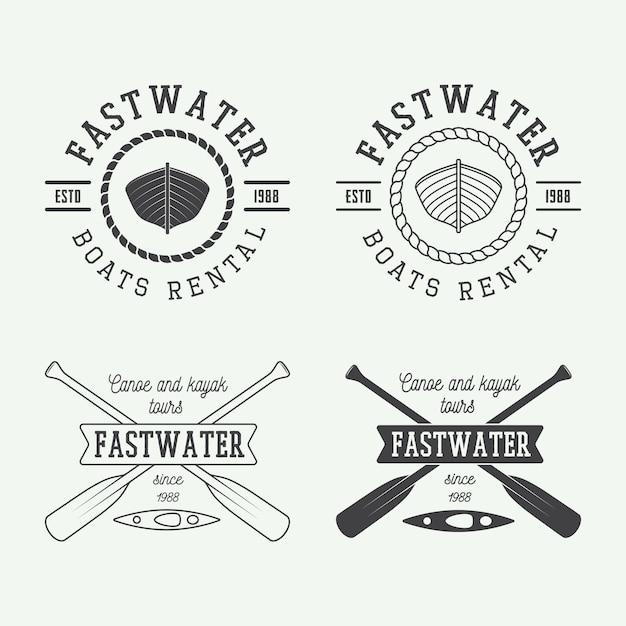 Rafting logo Premium Vector