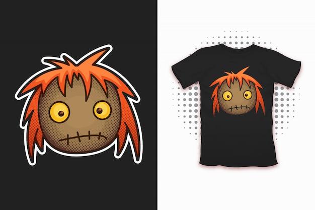 Rag doll print for t-shirt design Premium Vector