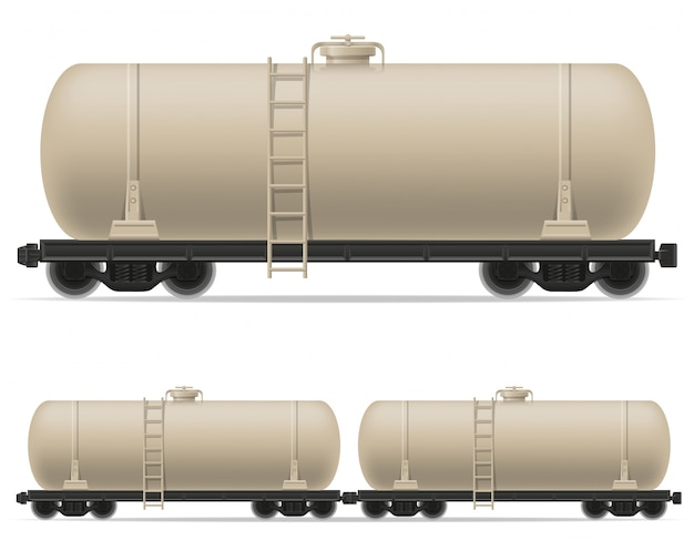 Railway carriage train vector illustration Premium Vector