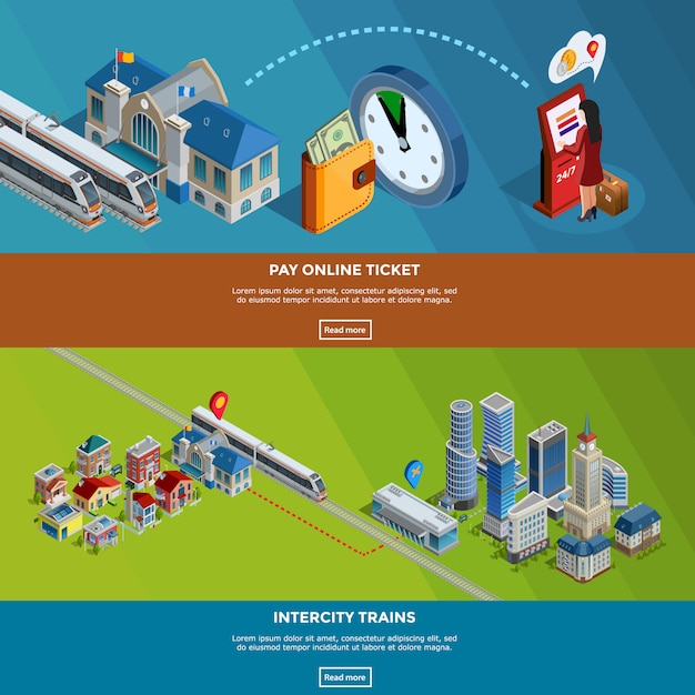 Railway homepage Free Vector