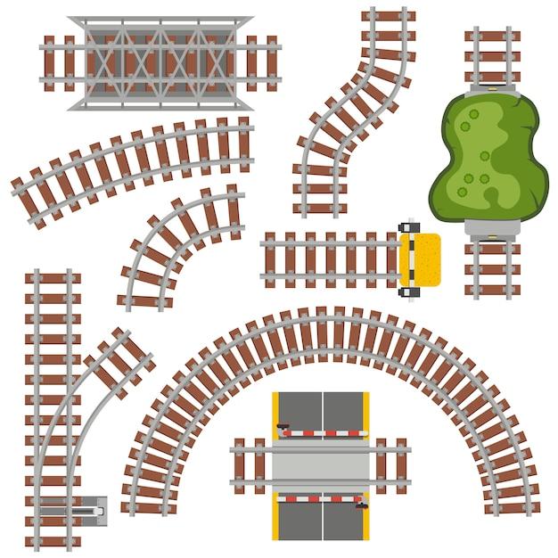 Railway railroad Premium Vector