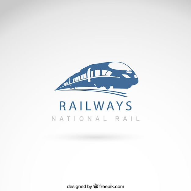 Railways logo Premium Vector