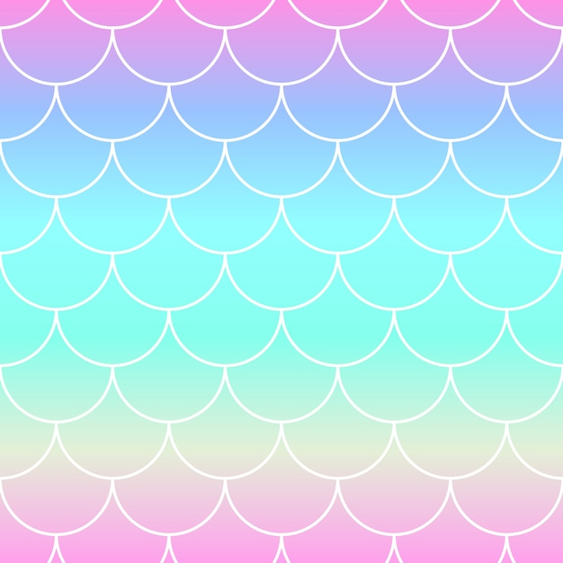 Rainbow background. mermaid scales. Premium Vector