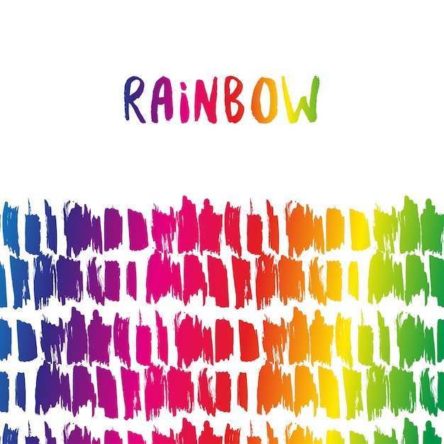 Rainbow Border. Colorful Decoration. Vector Template For