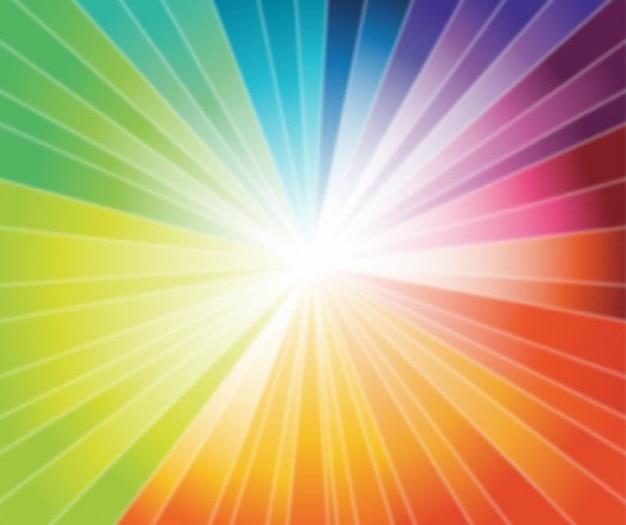 rainbow burst vector graphic Free Vector