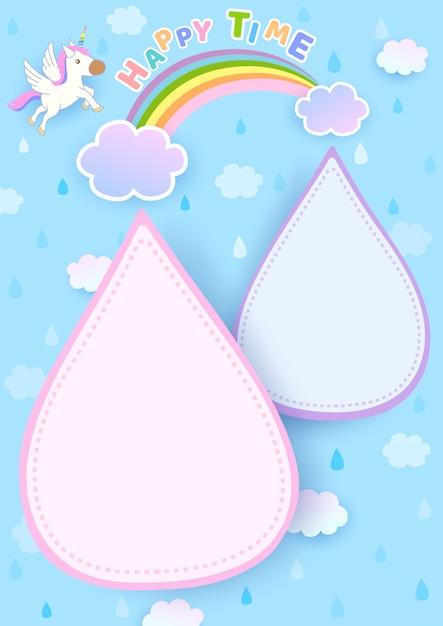 Rainbow-raining Premium Vector