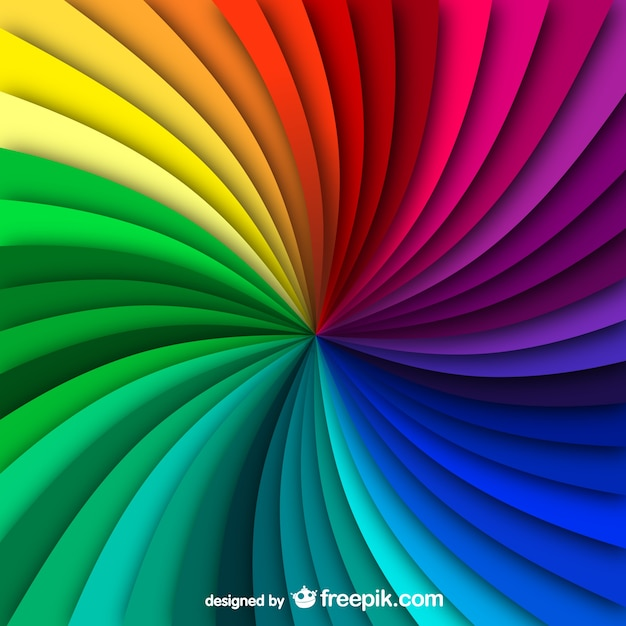 Rainbow swirl background Free Vector