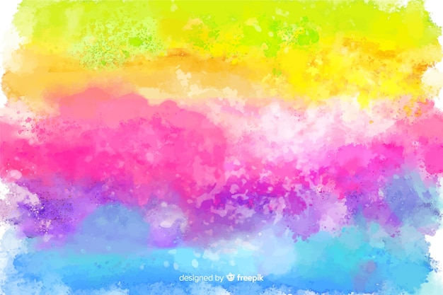 Rainbow in tie-dye style background Free Vector