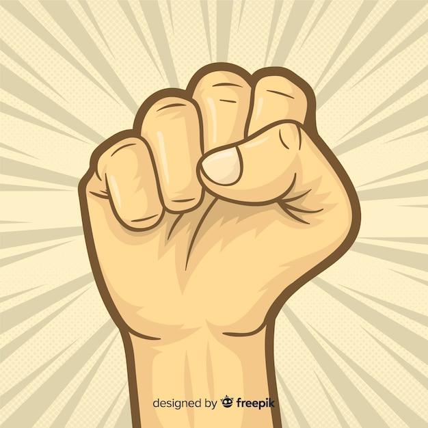 Поднятый кулак для революции Premium векторы