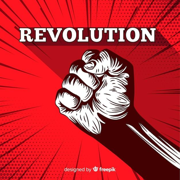 Raised fist for revolution Premium Vector