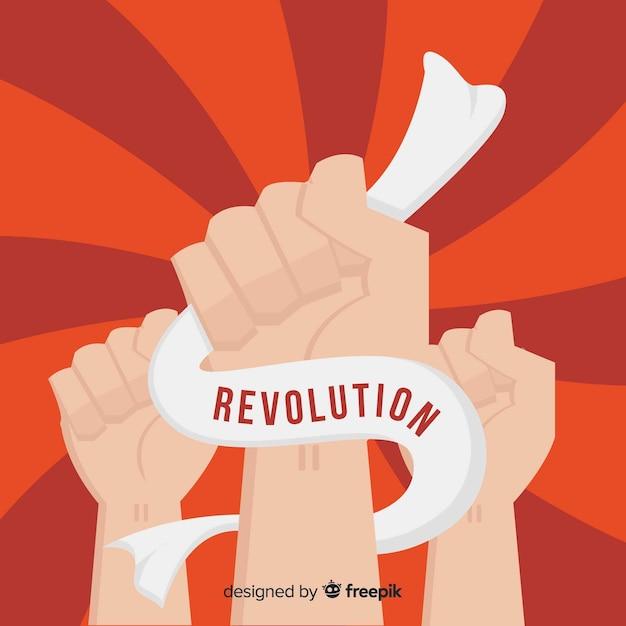 Raised fist for revolution Free Vector