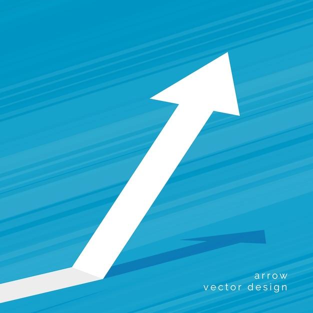 Raising arrow design Free Vector