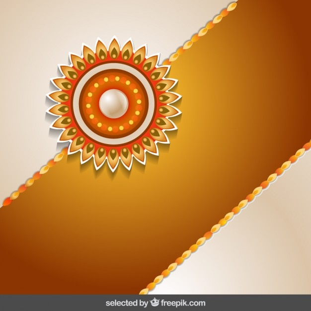 Rakhi background with golden band Vector  Free Download