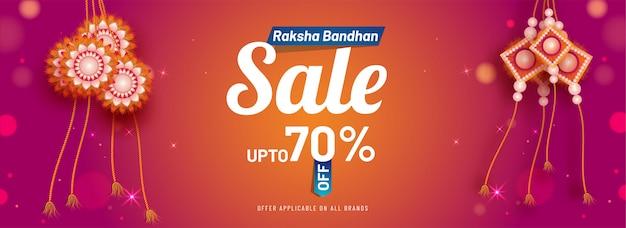 Raksha bandha sale banner Premium Vector