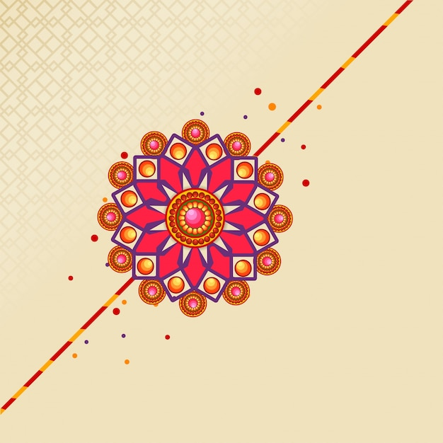 Raksha Bandhan Festival Background Decorated With