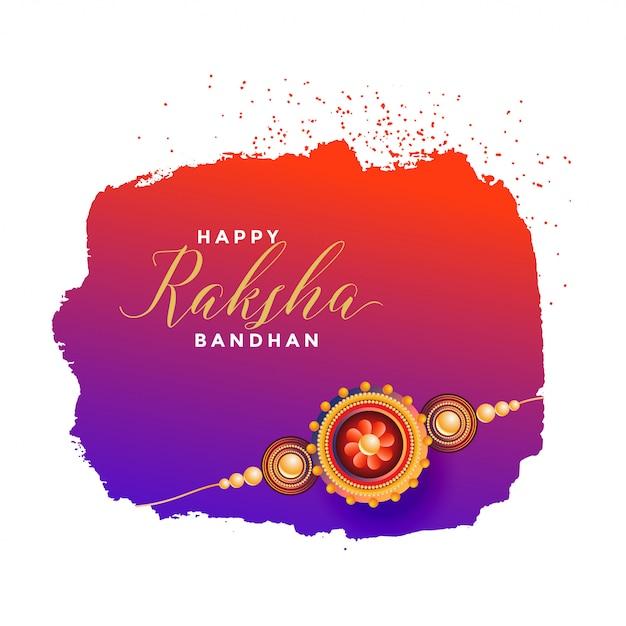 raksha bandhan greeting card  free vector