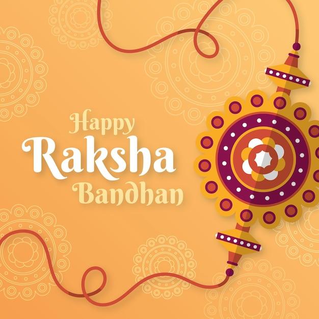 Illustrazione di raksha bandhan Vettore gratuito