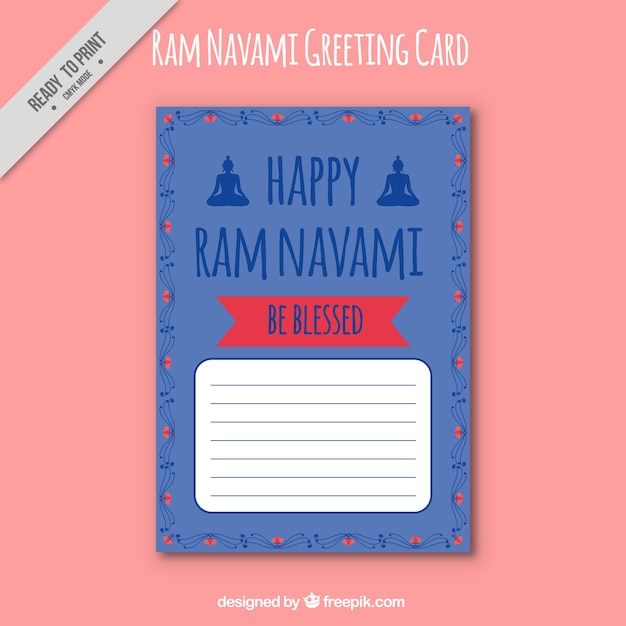 Ram navami greeting card template