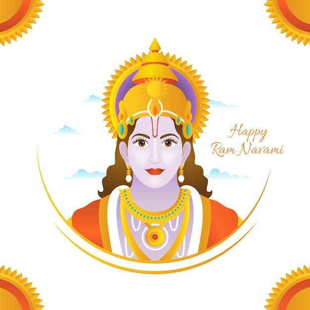 Ram navami illustration background Free Vector
