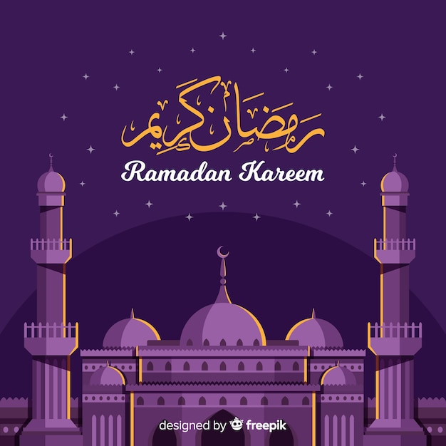 Ramadan background Free Vector