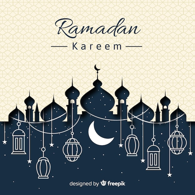 Ramadan background Free Vector
