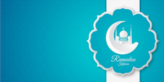 Ramadan banner background Premium Vector
