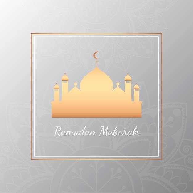 Ramadan card illustration Free Vector
