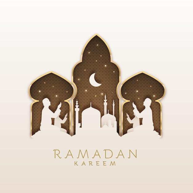 Ramadan celebration flat design Free Vector