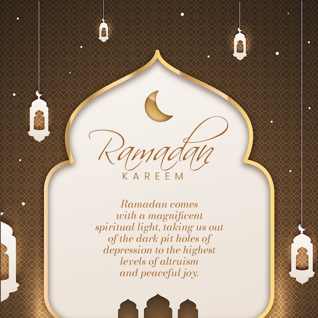 Ramadan celebration flat style Free Vector