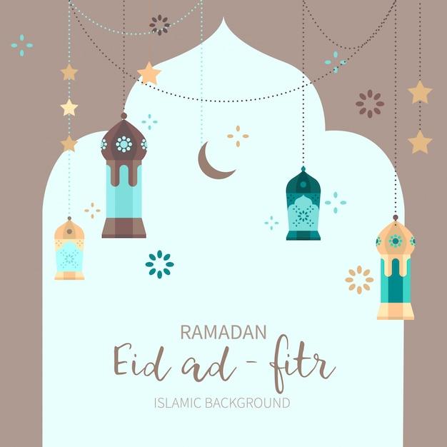 ramadan decoration background vector free download
