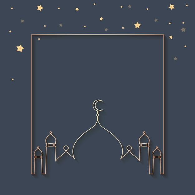 Ramadan framed background design Free Vector