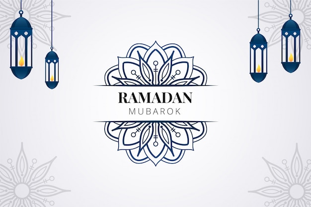 Ramadan greeting background Premium Vector