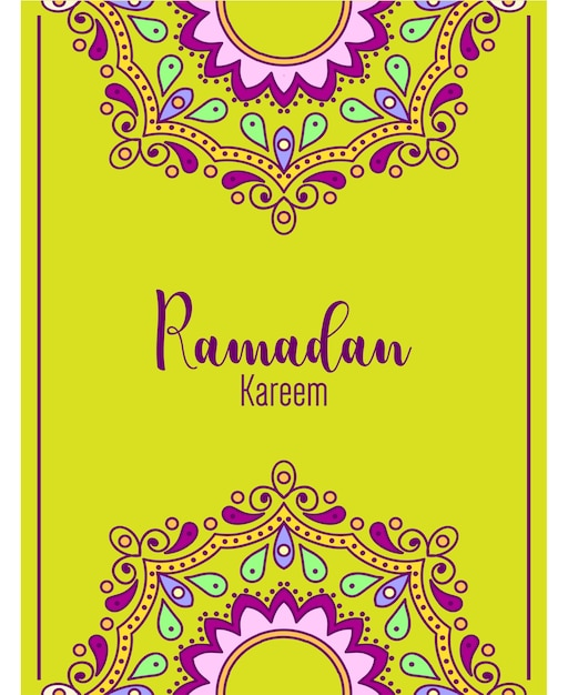 premium vector  ramadan greeting card template