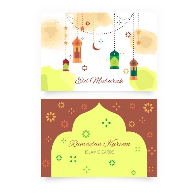 Ramadan greeting cards Free Vector