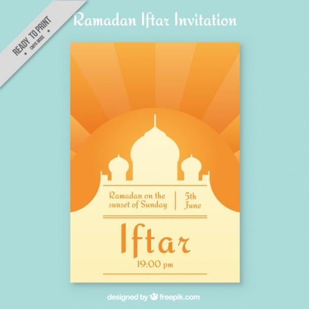 Ramadan invitation ramadan iftar invitation vector premium download stopboris Image collections