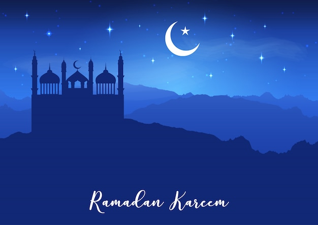 Ramadan kareem background Free Vector