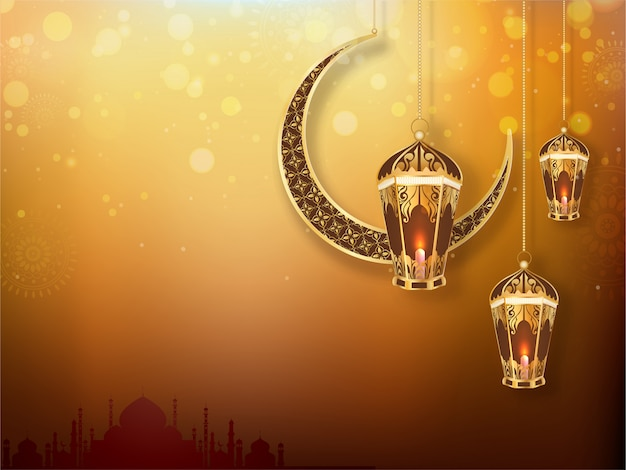 Ramadan kareem background. Premium Vector