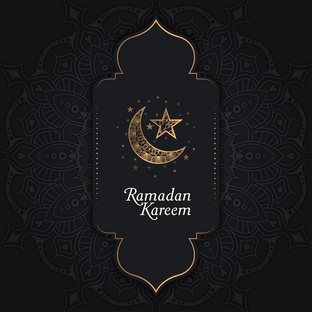 Ramadan kareem background Premium Vector