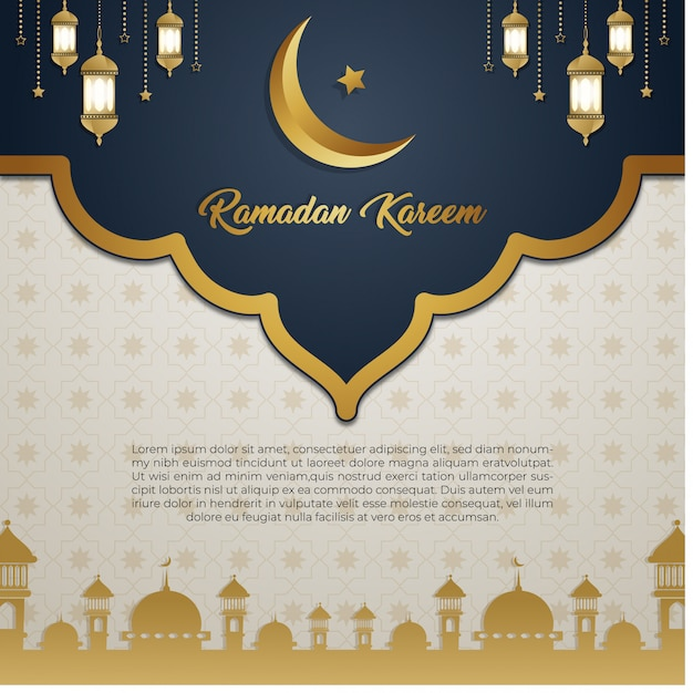 Ramadan kareem background Premium Vector