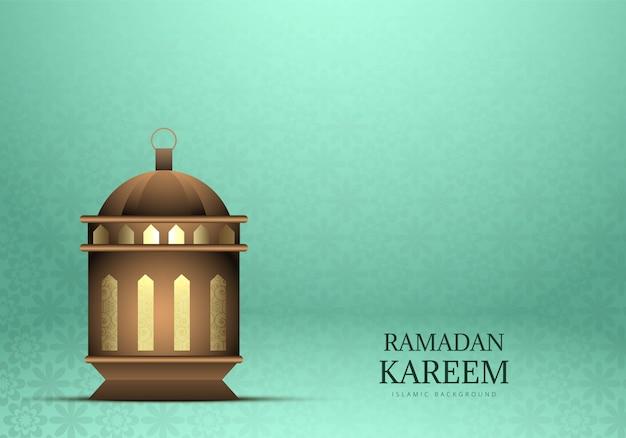 Рамадан карим красивый фон лампы Бесплатные векторы