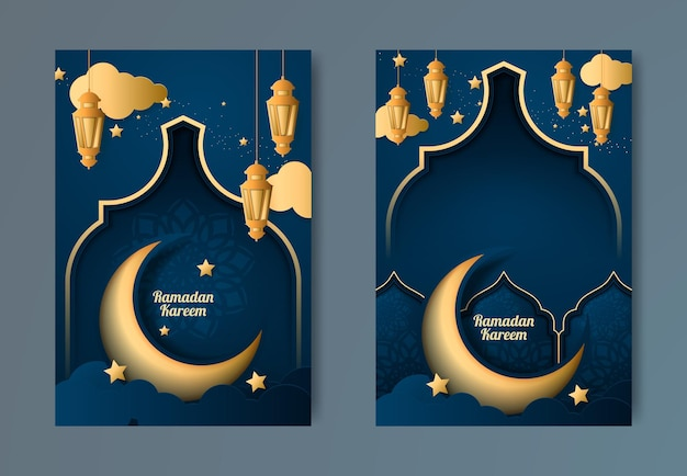Ramadan kareem design Premium Vector