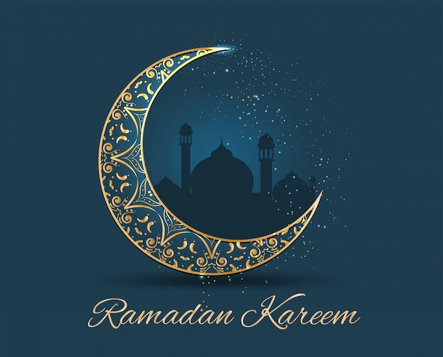 Ramadan kareem golden ornate Premium Vector