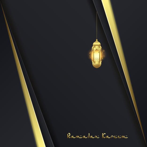 Ramadan kareem greeting card background Premium Vector