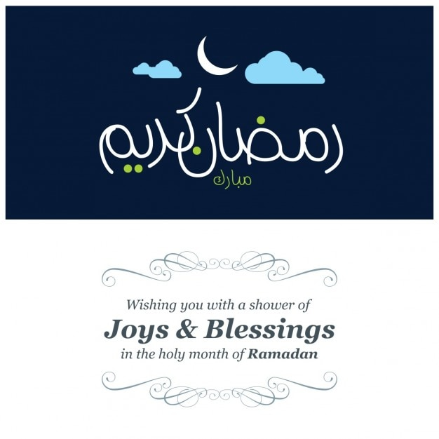 Ramadan kareem greeting card with message vector free download ramadan kareem greeting card with message free vector m4hsunfo
