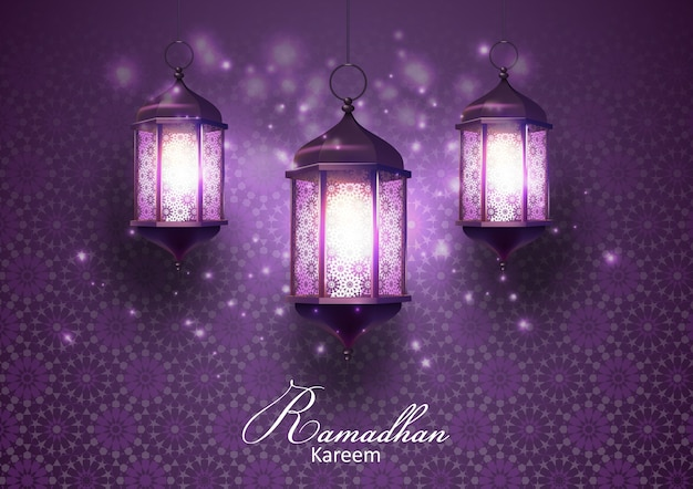 Ramadan kareem greetings card Premium Vector