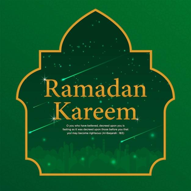 Ramadan kareem islamic background template design Premium Vector