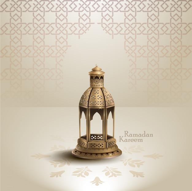 Ramadan kareem islamic greeting design background Premium Vector