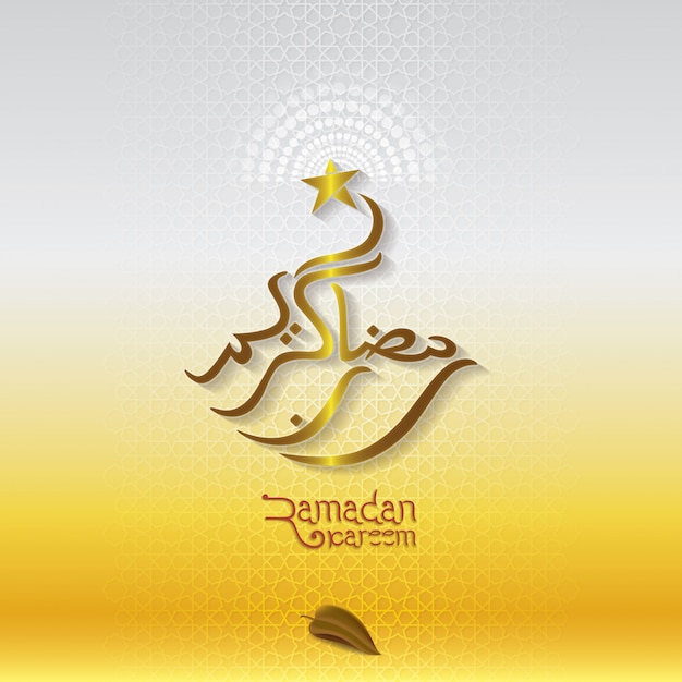 Ramadan kareem islamic greeting with arabic gold pattern background ramadan kareem islamic greeting with arabic gold pattern background premium vector m4hsunfo