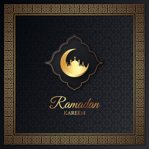 Рамадан карим исламский дизайн иллюстрации Premium векторы